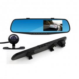 Видеорегистратор 1080 FULL HD с 4,3 инча LCD дисплей в огледалото и камера за задно виждане и запис
